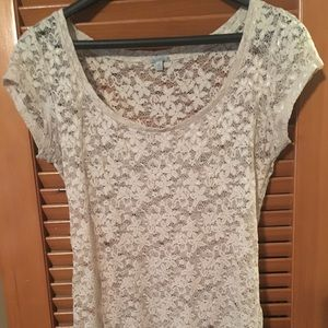 Lace flower tank top
